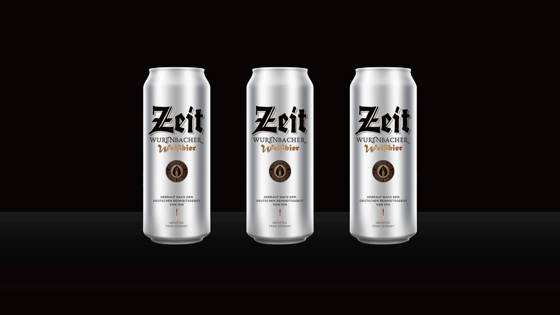 Zeit啤酒包装设计